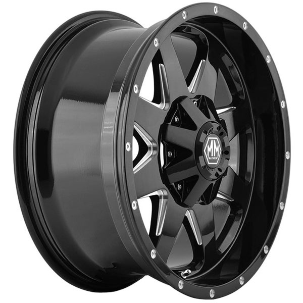 Mayhem Wheels Tank 8040 Black Wheels | 4WheelOnline.com