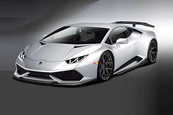 Lamborghini huracan with spoiler