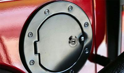 Rugged Ridge Aluminum Jeep Locking Fuel Door Covers For 07