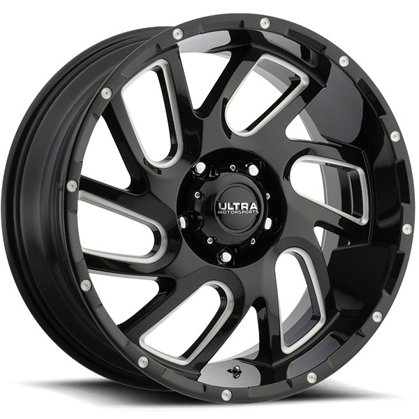 Ultra Wheels 221bm Carnage Gloss Black With Cnc Milled Accents