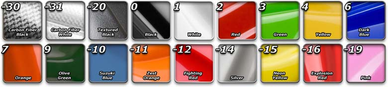 Maier Mfg Color Chart The Last Numbers Of Part Number Denote This Illustrates Those Colors And Their Corresponding
