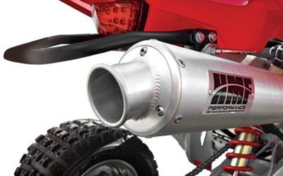 HMF ATV Exhaust Systems for the Honda Foreman 450 | 4WheelOnline com