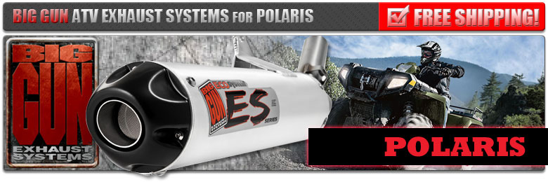 Big Gun ATV Exhaust for Polaris at LOWEST PRICE!