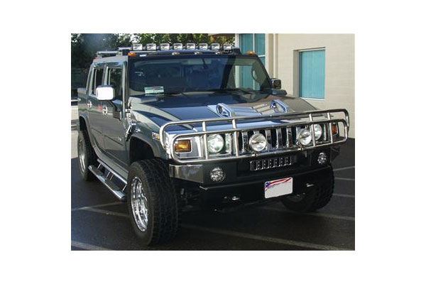 Delta light bars 10x series hummer h2 10x light bar with 8 xenon lights silver aloadofball Gallery