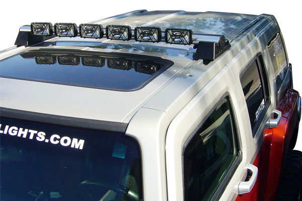 Delta light bars 6x series hummer h3 6x light bar with 6 xenon driving lights silver aloadofball Image collections