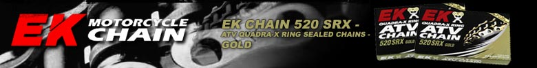 EK CHAIN 520 SRX - ATV QUADRA-X RING SEALED CHAINS - GOLD