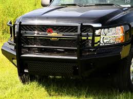 Chevy truck with front bumper bar
