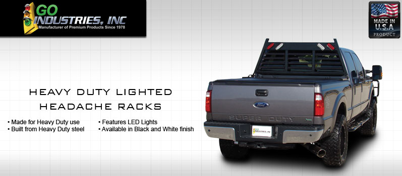 Go Industries Heavy Duty Lighted Headache Racks