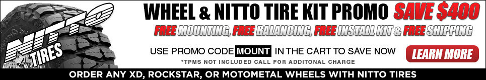 Truck Wheels Promo Free Mounting, Free Balancing, Free Install Kit, and Free Shipping! - Save $400!
