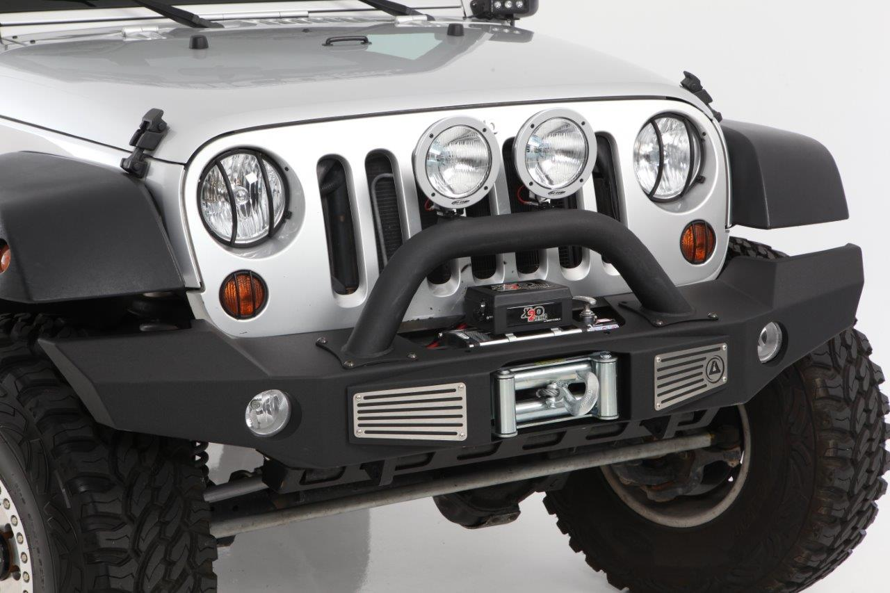 The new Smittybilt Atlas on the jeep wrangler different color and angle