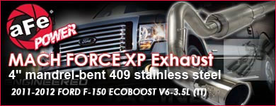 Click Here for AFE MACH FORCE XP Exhaust 4 cat-back