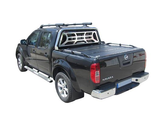 Black truck with a tonneau cover