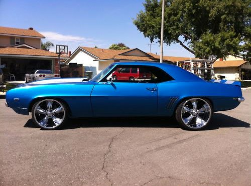 All Blue Muscle Car