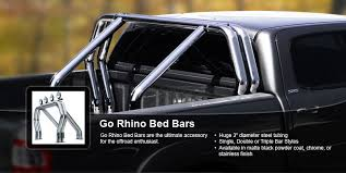Go rhino on your truck bed with these cool accessories the sport bars are built with pre drilled holes for easier installation of auxillary lights and additional styling on the sides courtesy of go rhino aloadofball Image collections
