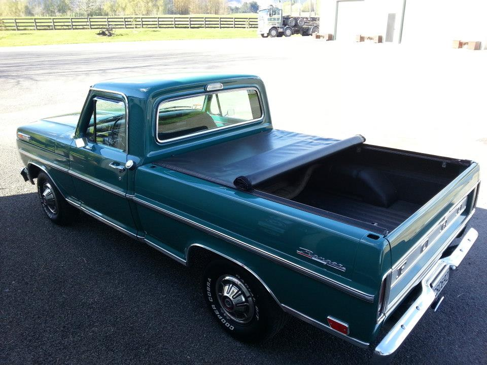 old school truck with tonneau