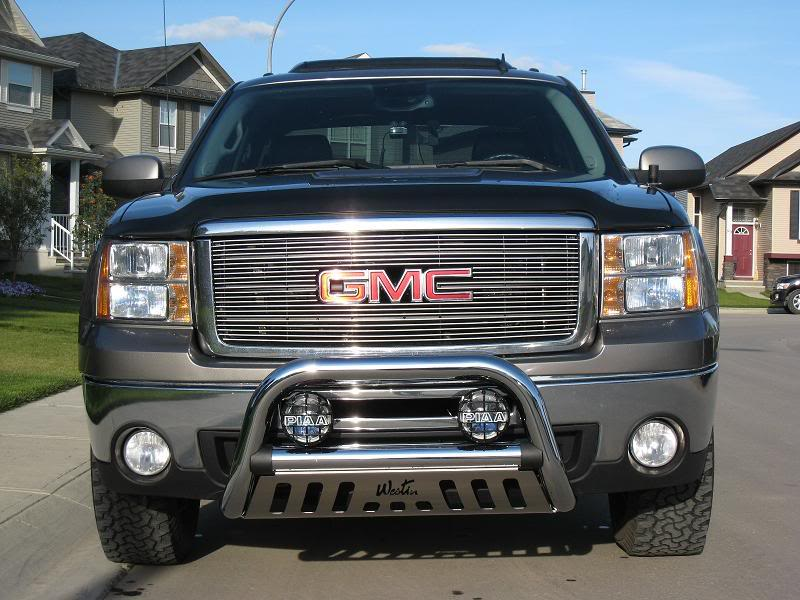 Protecting your vehicle with westin bull bars gmc truck with a westin bull bar and lights aloadofball Image collections