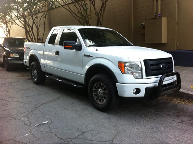 White Ford westin chrome bull bar