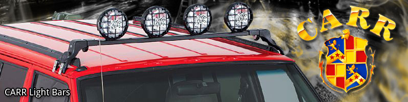 Carr light bar on sale free shipping 4wheelonline carr light bars provides a sturdy and secure mounting system for truck jeep or suv carr standard deluxe and deluxe rota light bars mount to the roof aloadofball Gallery