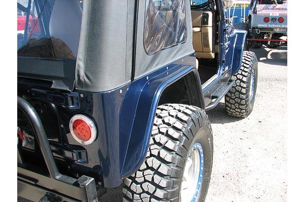 Jeep Extended Warranty >> GenRight 4'' Rear Hi-Fender Tube Flares 76-06 CJ7, LJ, TJ, and YJ | 4WheelOnline.com