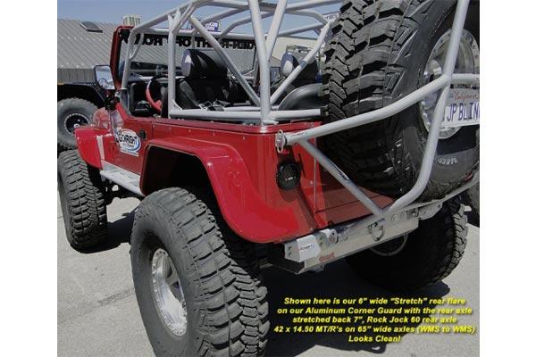 Genright 6 Rear Stretch Tube Flares 76 06 Cj7 Lj Tj
