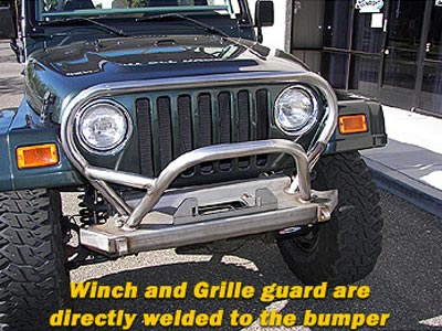 Genright Front Bumpers With Trail Stinger 97 06 Jeep Tj