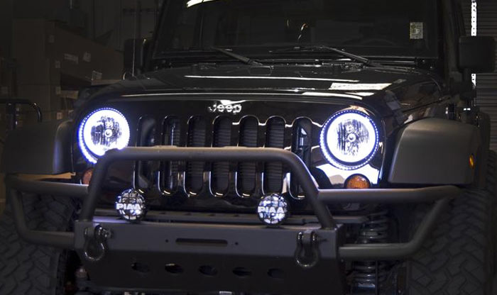 Halo Lights For Jeep Wrangler >> Oracle Pre-Assembled Halo Lights Jeep Wrangler JK | 4WheelOnline.Com