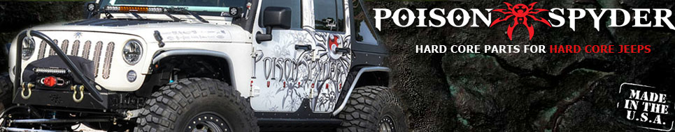 Poison Spyder Jeep Parts Banner