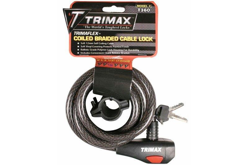 Trimax TCU1572 Max-Dual Force U-Shackle Lock 72 length x 15mm Dia Trimaflex Cable