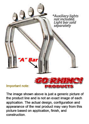Go rhino bed bars for toyota 4wheelonline 00 06 tundra 66 and 8 bed front main a bar chrome aloadofball Image collections