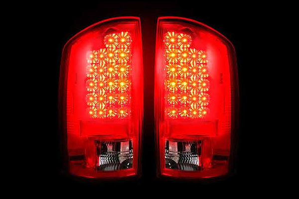 Recon Red Led Tail Lights 2002 2006 Dodge Ram 1500 2003 2500 3500
