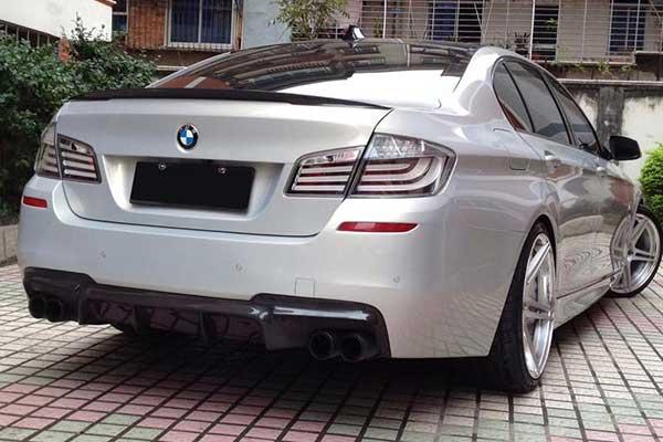 BMW F10 5 Series VRS Aero Decklid Spoiler Carbon Fiber PP 1x1 Glossy