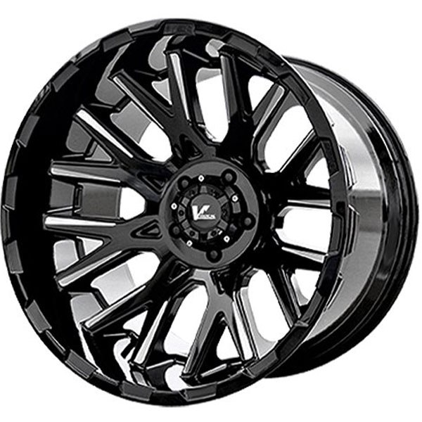 V Rock Vr10 Recoil Gloss Black Milled Spokes Wheels