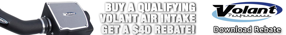 Buy a qualifying Volant Air Intake and get a $40 rebate!