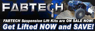 Get Lifted and SAVE with FABTECH Suspension Lift Kits for Jeep!
