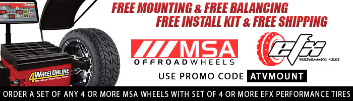 MSA Offroad Wheels & EFX Performance Tires Free Mounting and Free Balancing Promo