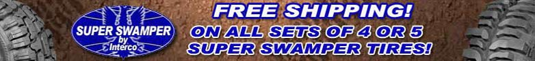 Super Swamper Tire Sets Ship for Free!