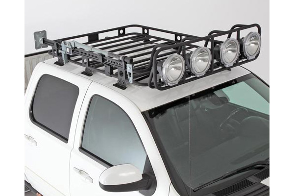Smittybilt defender rack ford 4wheelonline smittybilt defender roof rack for ford prevnext sciox Image collections