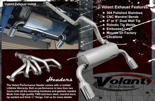 Volant Exhaust Systems For Hummer H2 H3 Alpha At The