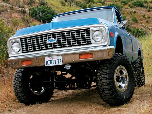 Older Chevy truck with nice tires
