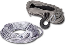 Synthetic Rope or Steel Cable Pic