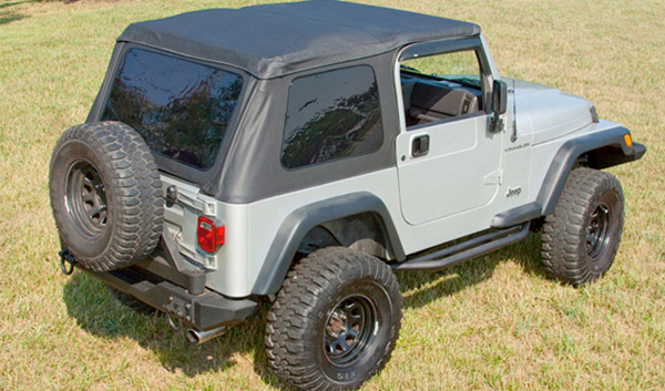 xhd bowless soft tops 97 06 jeep wrangler tj includes door surrounds. Black Bedroom Furniture Sets. Home Design Ideas