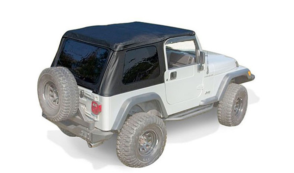 xhd bowless soft tops 97 06 jeep wrangler tj uses oe door surrounds. Black Bedroom Furniture Sets. Home Design Ideas