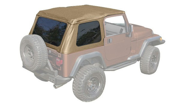 Xhd Bowless Soft Tops 97 06 Jeep Wrangler Tj Uses Oe Door