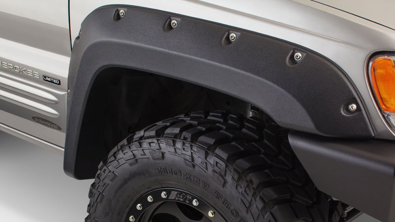 Bushwacker Cut-Out® Fender Flares Front Pair-99-04 Grand Cherokee WJ