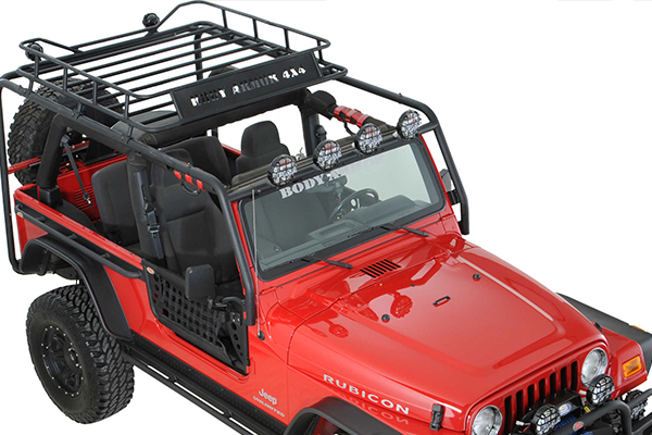 Body Armor Roof Rack, Side And Cross Tubes, JK Unlimited Only Requires  JK 6124 1. 2007 2017 JEEP JK UNLIMITED | 4WheelOnline.com