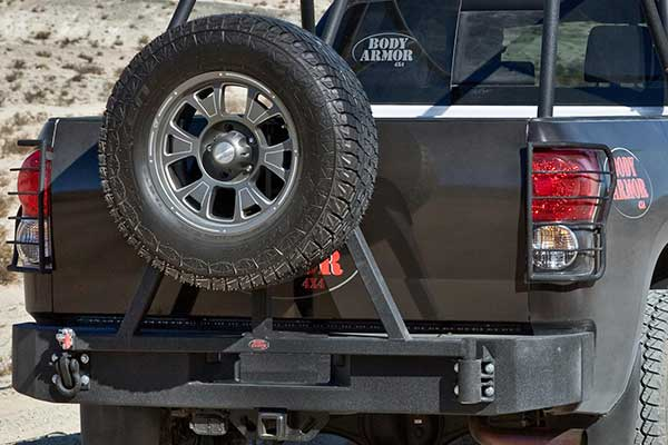 Body Armor 2007-2013 Toyota Tundra- Swing Arm Tire carrier ...