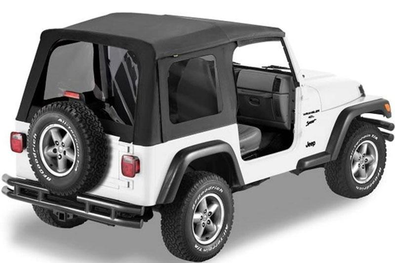 Jeep Wrangler 1997 2002   1997 02 Jeep Wrangler; Replace A Top™ W/o Door  Skins Tinted Black Denim (15)