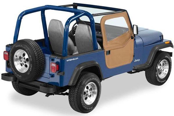 Bestop 174 2 Piece Full Fabric Doors For 19760 1995 Jeep Cj7