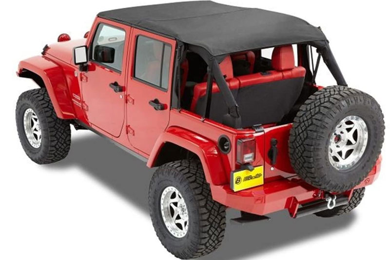 2007-2018 Jeep Wrangler Bikini Tops, Mesh Tops