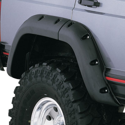 Bushwacker Cut-Out® Fender Flares Rear Pair-1984-2001 Cherokee XJ Cut